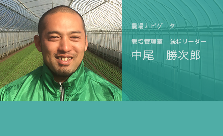 農場ナビゲーター 栽培管理室リーダー 中尾勝次郎